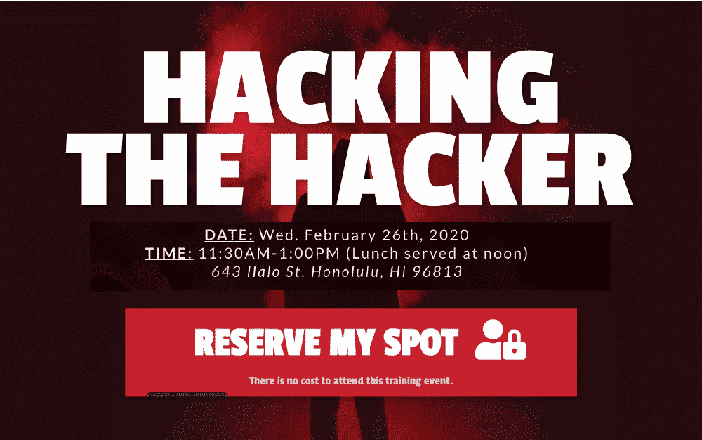 Hacking the Hacker Lunch and Learn