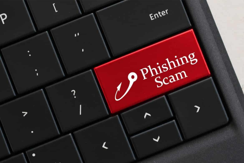 phishing scam keyboard button